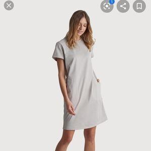 Kit & Ace Blue Midi Shirt Dress w/ Pockets & Slits